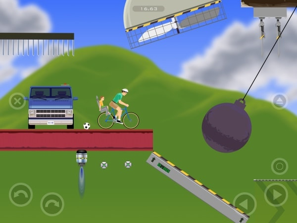 гигантские шары в Happy Wheels